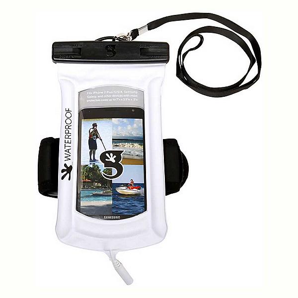 Geckobrands Waterproof Submerge Audio Case 2019, White, 600