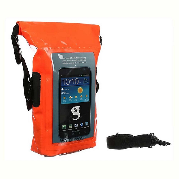 Geckobrands Waterproof Phone Tote Dry Bag 2018, Bright Orange, 600