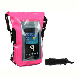 Geckobrands Waterproof Phone Tote Dry Bag 2017, Bright Pink, 256