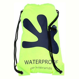 Geckobrands Waterproof Drawstring Backpack 2017, Bright Green-Navy, 256