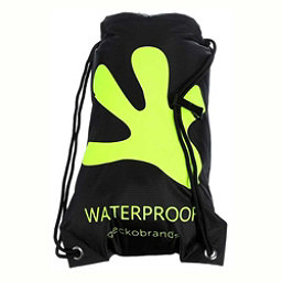 Geckobrands Waterproof Drawstring Backpack 2017, Black-Bright Green, 256