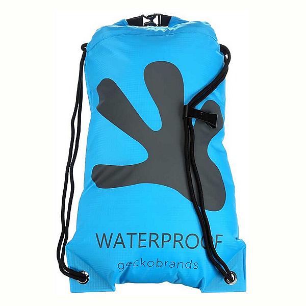 Geckobrands Waterproof Drawstring Backpack 2018, Bright Blue-Grey, 600