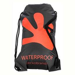 Geckobrands Waterproof Drawstring Backpack 2017, Grey-Birhgt Orange, 256