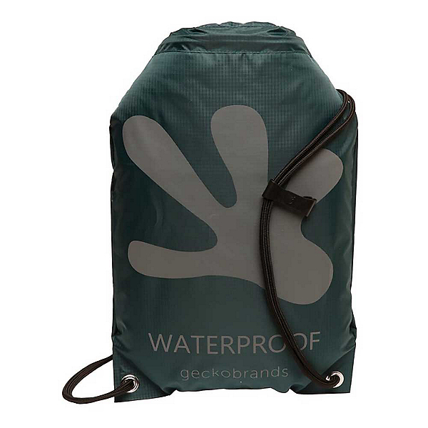 Geckobrands Waterproof Drawstring Backpack 2019, Hunter Green-Grey, 600