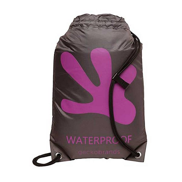 Geckobrands Waterproof Drawstring Backpack 2019, Grey-Purple, 600