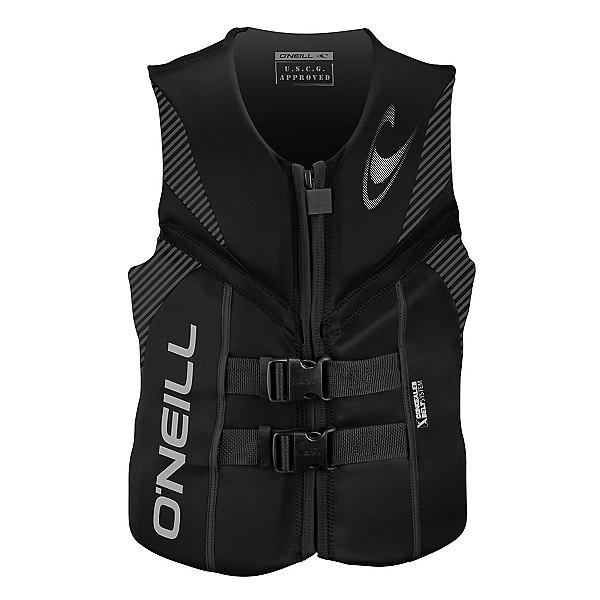 O'Neill Reactor USCG Adult Life Vest 2018, Black-Black-Black, 600