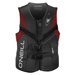 O'Neill Reactor USCG Adult Life Vest 2018, Graphite-Red-Black, 256