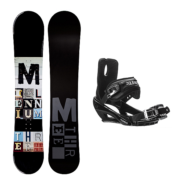 Millenium 3 Discord Black Stealth 3 Snowboard and Binding Package, , 600
