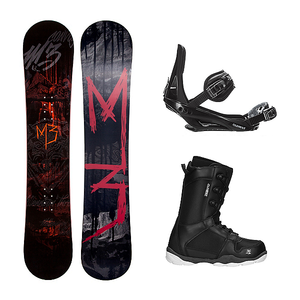 Millenium 3 Convoy 4 ST-1 Complete Snowboard Package, , 600