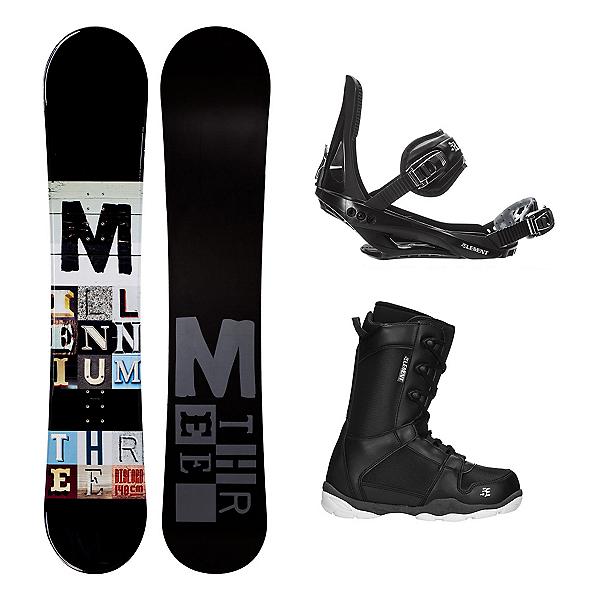 Millenium 3 Discord Black ST-1 Complete Snowboard Package