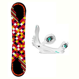 Joyride Checkers Black Solstice 4 Womens Snowboard and Binding Package, , 256