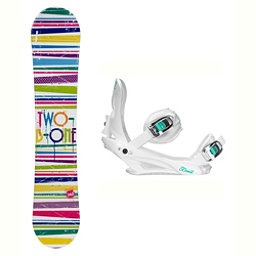 2B1 Paint White Layla Womens Snowboard and Binding Package, , 256