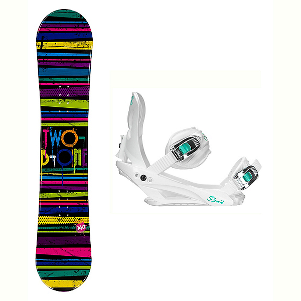 2B1 Paint Black Solstice 4 Womens Snowboard and Binding Package, , 600
