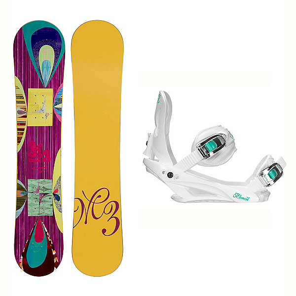Millenium 3 Escape Layla Womens Snowboard and Binding Package, , 600