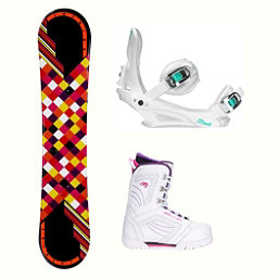 Joyride Checkers Black Cosmo Womens Complete Snowboard Package, , 256