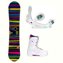 2B1 Paint Black Cosmo Womens Complete Snowboard Package, , 256