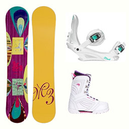 Millenium 3 Escape Cosmo Womens Complete Snowboard Package, , 256