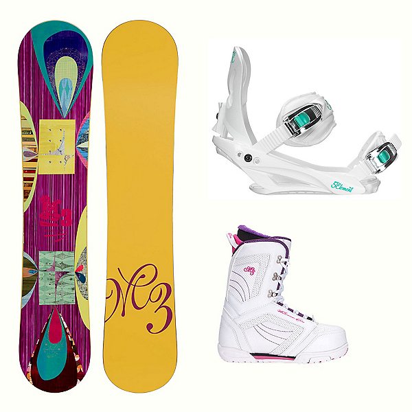 Millenium 3 Escape Cosmo Womens Complete Snowboard Package, , 600