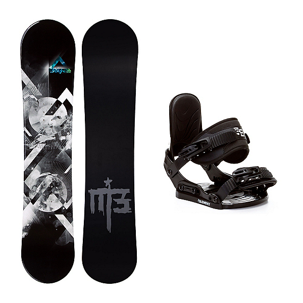 Millenium 3 Source Stealth Kids Snowboard and Binding Package, , 600