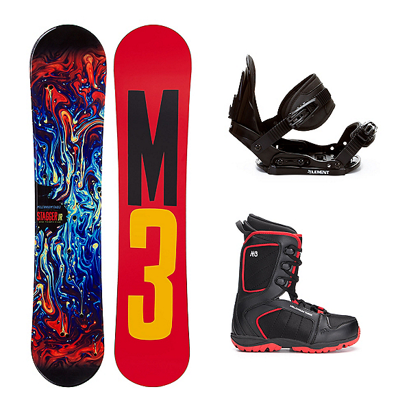 Millenium 3 Stagger 4 Militia 4 Kids Complete Snowboard Package, , 600