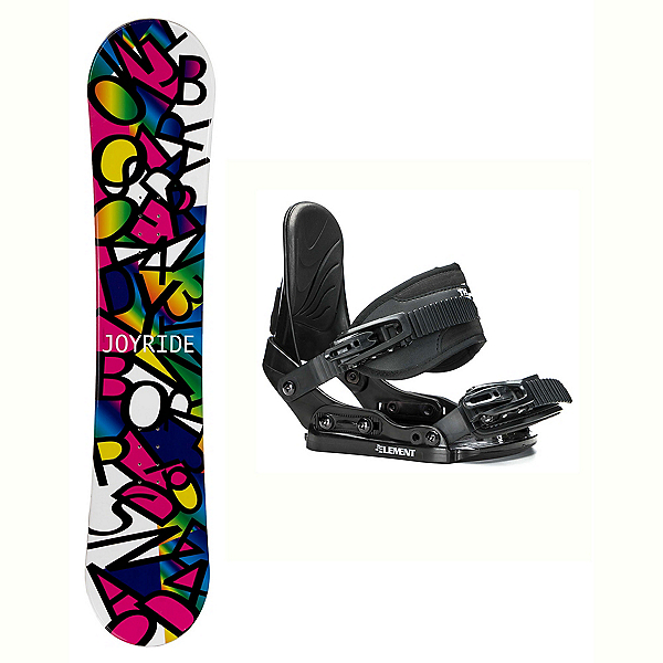 Joyride Letters Black Stealth Girls Snowboard and Binding Package, , 600