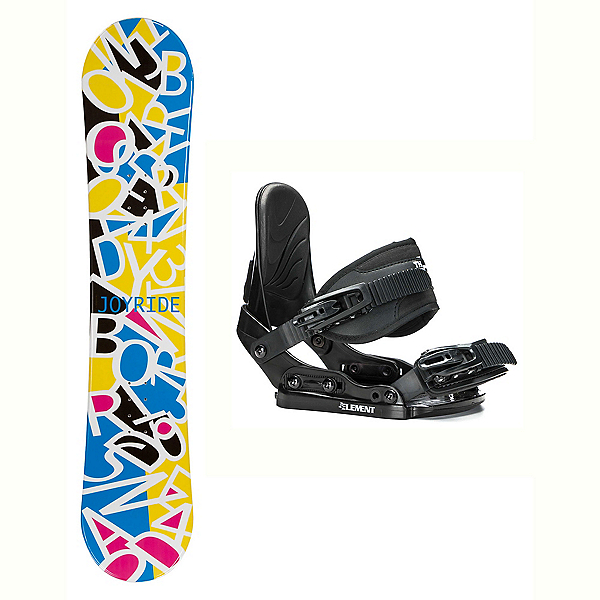 Joyride Letters White Solstice Girls Snowboard and Binding Package, , 600