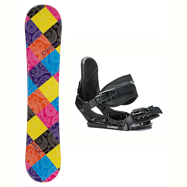 Joyride Paisley Stealth Girls Snowboard and Binding Package, , 600