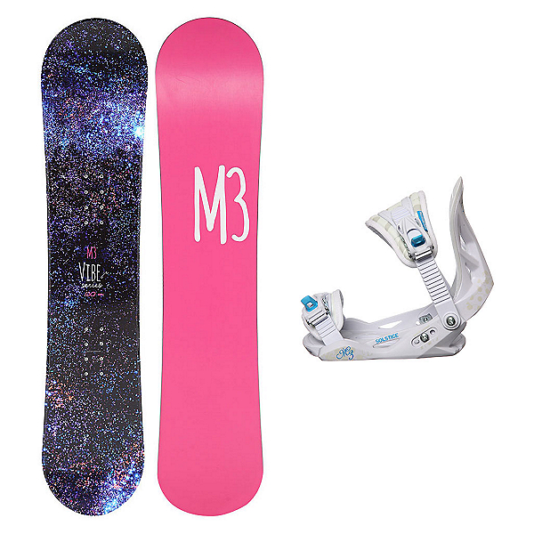 Millenium 3 Vibe Solstice Girls Snowboard and Binding Package, , 600