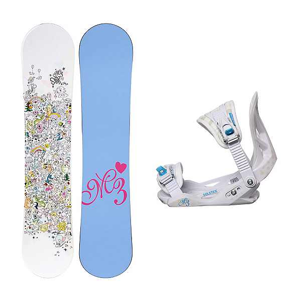 Millenium 3 Star Solstice Girls Snowboard and Binding Package, , 600