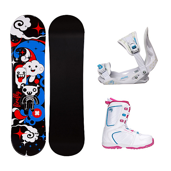 Firefly Explicit Black Venus XIII Girls Complete Snowboard Package, , 600