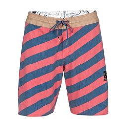 Volcom Stripey Slinger Mens Board Shorts, Dust Red, 256