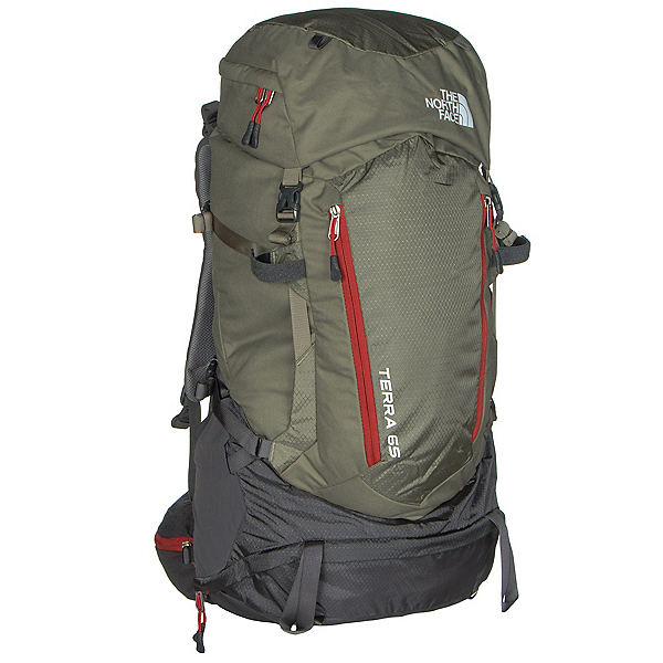 The North Face Terra 65 Backpack (Previous Season), Mountain Moss-Pompeian Red, 600