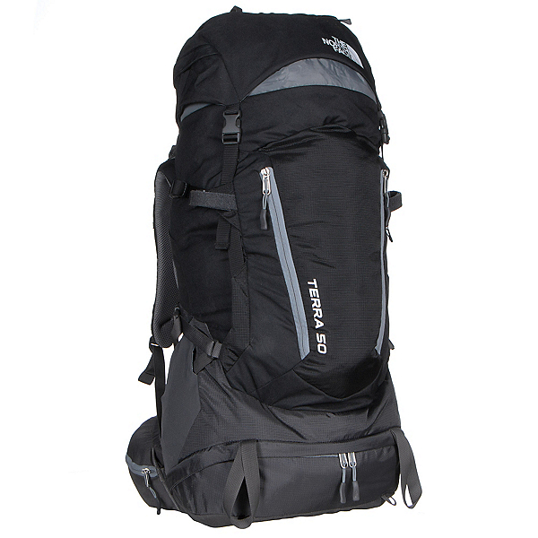 The North Face Terra 50 Backpack (Previous Season), TNF Black-Monument Grey, 600