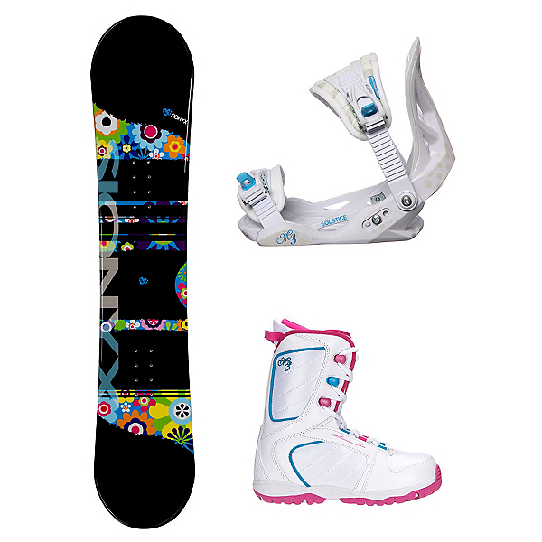 Sionyx Hippy Venus XIII Girls Complete Snowboard Package, , 600