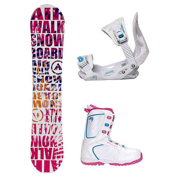 Airwalk Laser Pink Venus XIII Girls Complete Snowboard Package, , 600