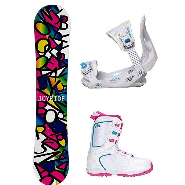 Joyride Letters Black Venus XIII Girls Complete Snowboard Package, , 600