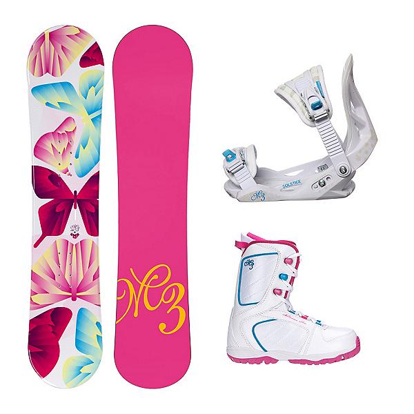 Millenium 3 Free Venus XIII Girls Complete Snowboard Package, , 600