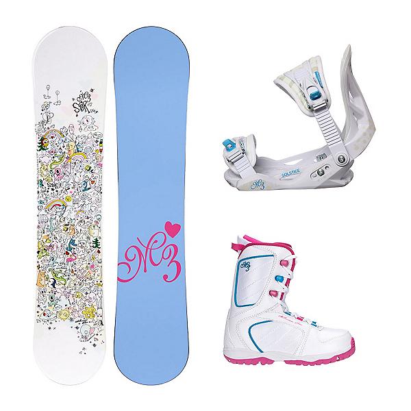 Millenium 3 Star Venus XIII Girls Complete Snowboard Package, , 600