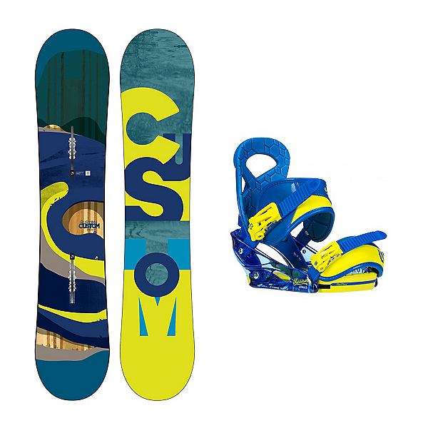 Burton Custom Smalls Mission Smalls Kids Snowboard and Binding Package, , 600