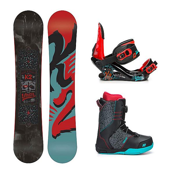 K2 Vandal Wide Vandal Boa Kids Complete Snowboard Package, , 600