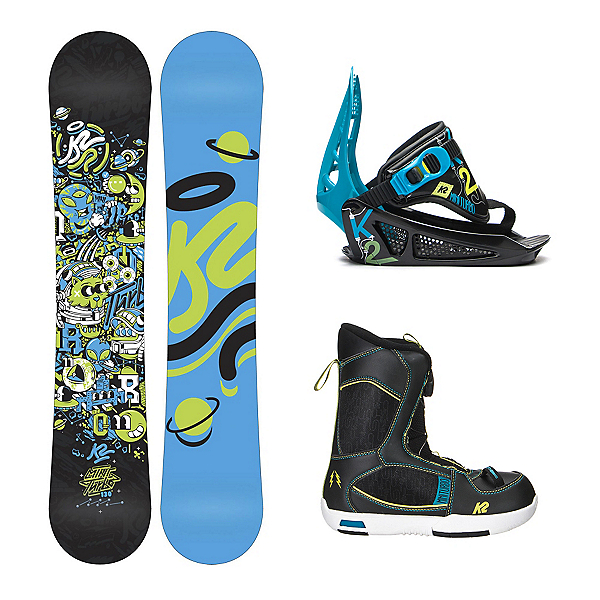 K2 Mini Turbo Mini Turbo Boa Kids Complete Snowboard Package, , 600