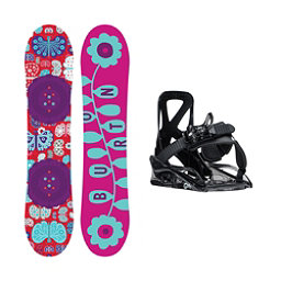 Burton Chicklet Grom Girls Snowboard and Binding Package, 125cm, 256