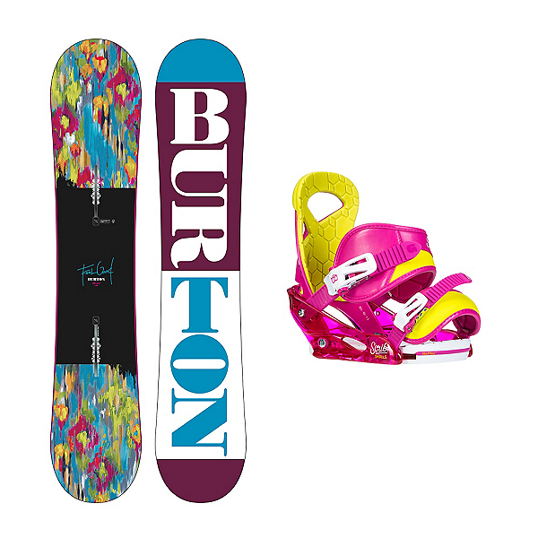 Burton Feelgood Smalls Scribe Smalls Girls Snowboard and Binding Package 2016, , 600