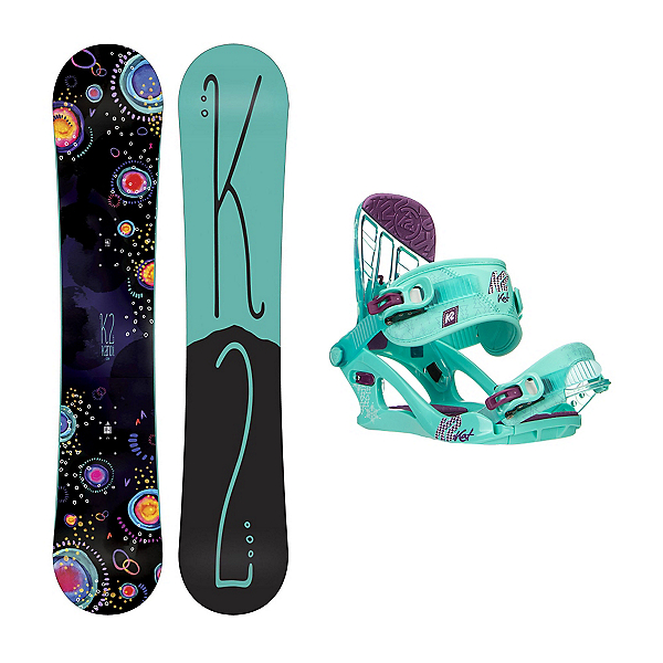 K2 Kandi Kat Girls Snowboard and Binding Package, , 600
