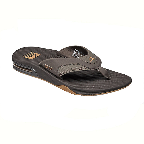 Reef Fanning Mens Flip Flops, Brown-Gum, 600