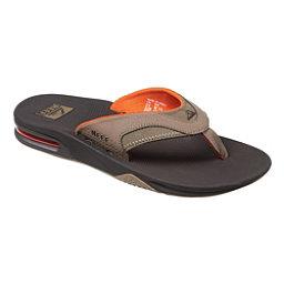 Reef Fanning Mens Flip Flops, Brown-Orange, 256