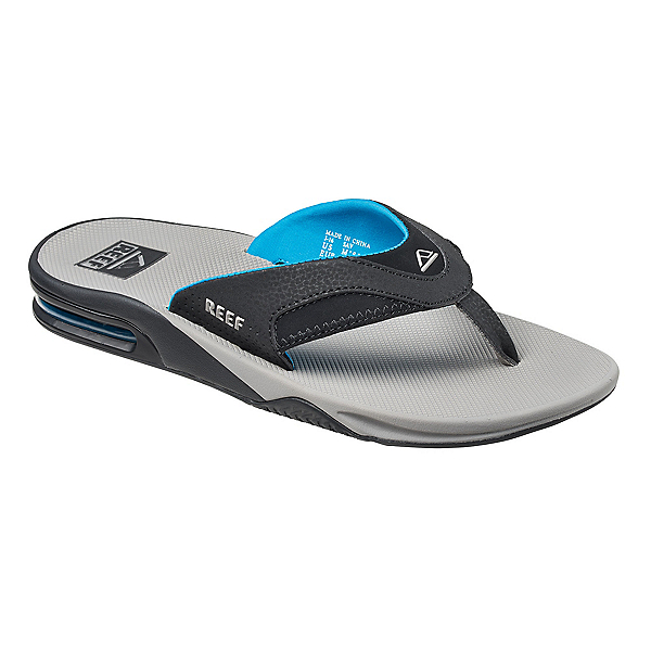 Reef Fanning Mens Flip Flops, Light Grey-Blue, 600