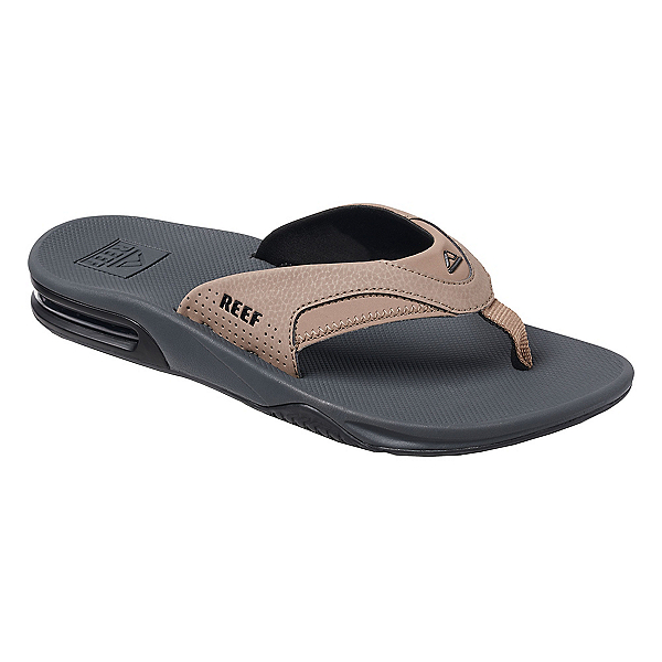Reef Fanning Mens Flip Flops, Tan-Black-Tan, 600
