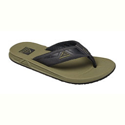 Reef Phantoms Mens Flip Flops, Black-Olive, 256
