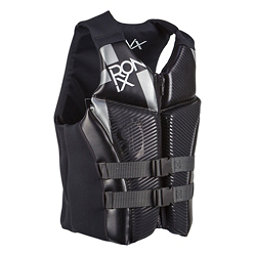 Ronix Covert Adult Life Vest 2017, Black-Metallic Silver, 256